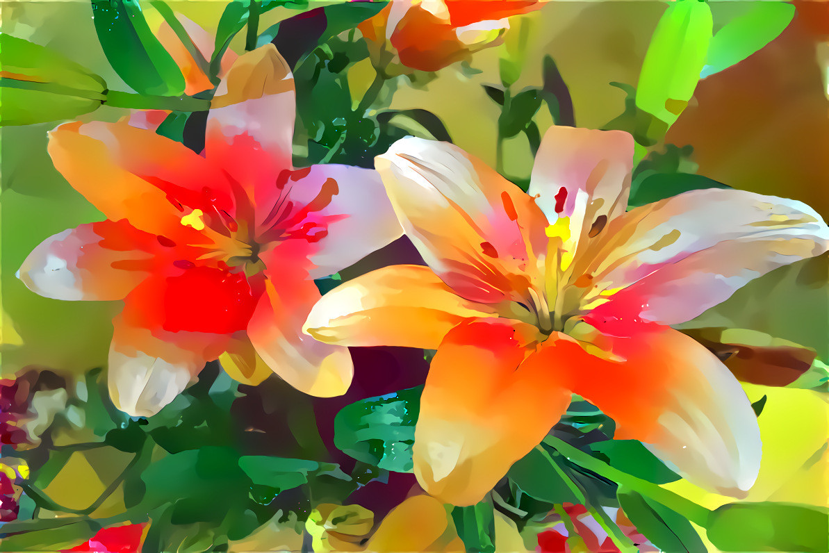 Lilies 4 orange green abstract 1 deep dream generator lilies 4 orange green abstract 1 izmirmasajfo